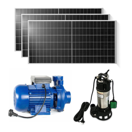 Off grid solar pumps